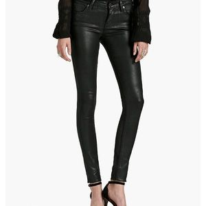 Lucky brand black brooke legging coated  jean!!